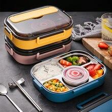 Pudełko na lunch ze stali nierdzewnej dla dzieci przechowywanie żywności izolowany pojemnik na posiłek japoński pojemnik na przekąski śniadanie pojemnik bento z kubek na zupę