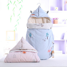 Newborn Sleeping Bag Baby Spring and Autumn Winter Cotton Mushroom Sleeping Bag Anti-kick Baby Cotton Sleeping Bag Envelope high quality pure cotton baby star sleeping bag children five pointed star anti kick winter thicker children sleeping sack
