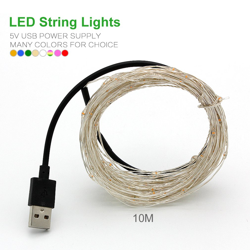 10M/20M USB LED String Light Waterproof LED Copper Wire String Holiday Fairy Lights For Christmas Party Wedding Decoration