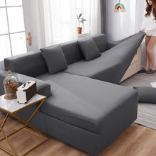 Funda de licra para el sofá, cubresofá elástico para asientos ideal para el salón, protector disponible en colores lisos, para sofás en forma de L es necesario comprar 2 piezas