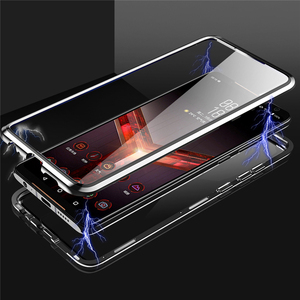 Image 3 - Front & Rear Double Sides Tempered Glass Transparent Magneto Phone Case for ASUS ROG Phone II 2 / ZS660KL
