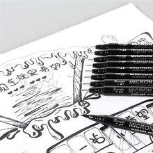 Art-Marker-Pen Archival Sketch Stationery Ink-Brush Art-Supplies Drawing Black 1pcs Pigma