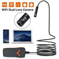 Double Lens 8MM Endoscope HD Wifi Camera IP67 Waterproof Inspection Borescope Camera for Android PC Notebook 6LEDs Adjustable