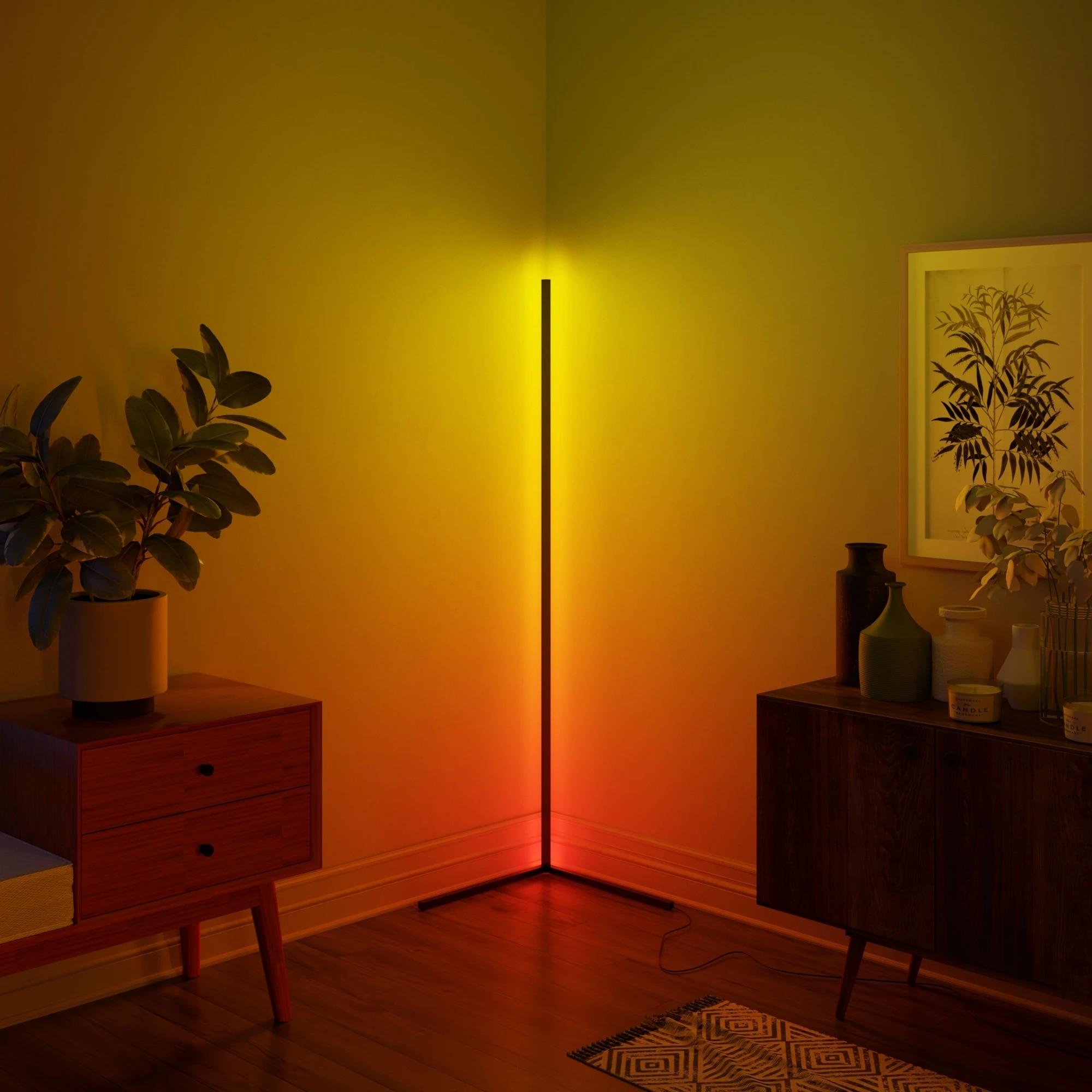 Minimalism LED Corner Floor Lamp Bright Decoration Home Floor Lights Bedroom Living Room Indoor Standing Lighting Club Light