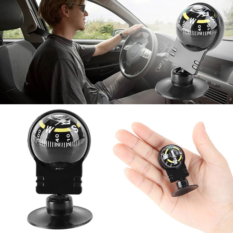 360 Rotating Inclinometer Navigation Guide Ball Car Compass Ornament Car Accessories Styling Interior For Auto Car Vehicle TSLM2
