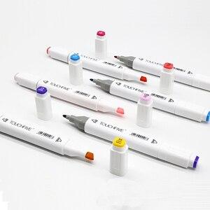 Image 4 - Маркеры touchfive 30/60/80/168 цветов, масляные спиртовые маркеры для рисования, кисть манга, ручка для анимационного дизайна, товары для рукоделия, Marcador