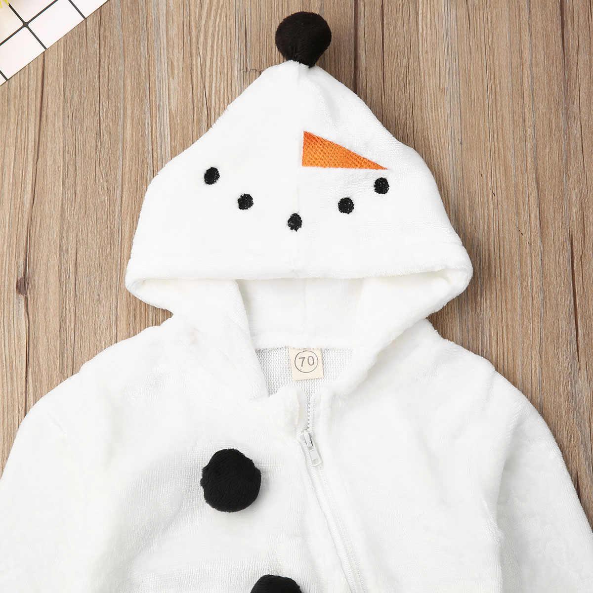 0-3Years niño recién nacido chico bebé Boy chica Navidad mamelucos de muñeco de nieve de peluche de mono de manga larga cálido otoño primavera trajes