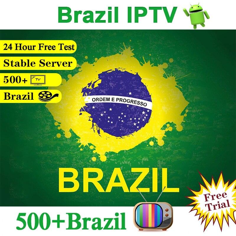 IPTV Brazil Android IPTV M3u Subscription Portuguese 500+ Canais Brazil 4K H.265 Brazil Subscription IPTV Brasil IP TV