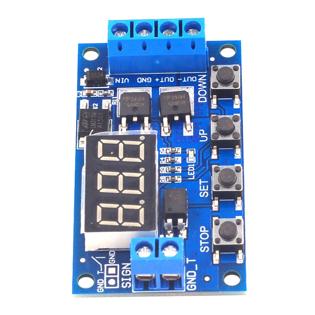 HCW-M135 Trigger Cycle Timing Delay Switch Circuit Dual MOS Tube Control Board Instead Of Relay Module 12V