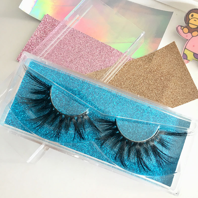 Hot sale 25mm lashes styles 3d mink free plastic lash box 6pairs/lot