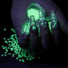 2020 Новое прибытие ногтей Светящиеся блесток бабочка Волшебная