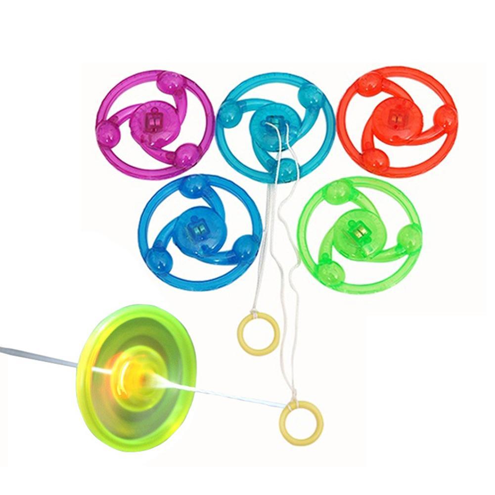 1 PC Kids Hand Pull Luminous Flashing Rope Flywheel Toy Led Light Up Toys Novelty For Children's Birthday Funny Gift