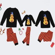 2020 Family Halloween Pajamas Set Pumpkin Print Adult Women