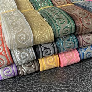 ZERZEEMOOY 17 Colour 33MM 1.5 INCH 10YARD/LOT Polyester Geometric Of China Folk Style Single Face Jacquard Ribbon(China)