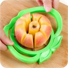 Fontes de cozinha práticas criativas cor aleatória apple forma lâmina aço inoxidável slicer maçã