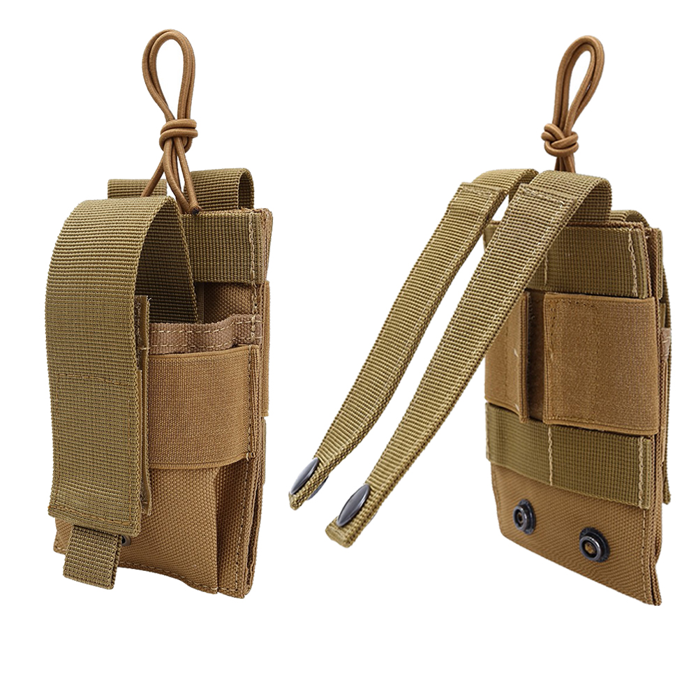 1000D Tactical Molle Magazine Pouch Double-Layer Single Vest Belt Accessory Radio Holster Mag Bag Phone Power Bank Pouch Hunting