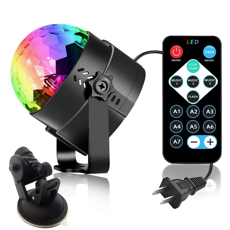 RGB LED  Lights Rechargeable Sound Activated Rotating Disco Ball Party Projector Effect Lamp For Christmas Home KTV Wedding