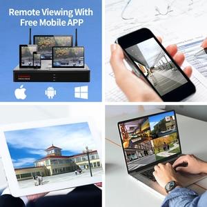 Image 4 - Lenovo 4ch array hd câmera sem fio vigilância, residencial, sistema dvr, 1080p cctv, wi fi, full hd nvr kit de vigilância avaliado