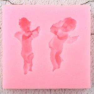 Image 3 - 3D מוסיקה מלאך תינוק סיליקון תבניות DIY מסיבת Cupcake טופר יצק עוגת קישוט כלים חימר ממתקי שוקולד Gumpaste תבניות