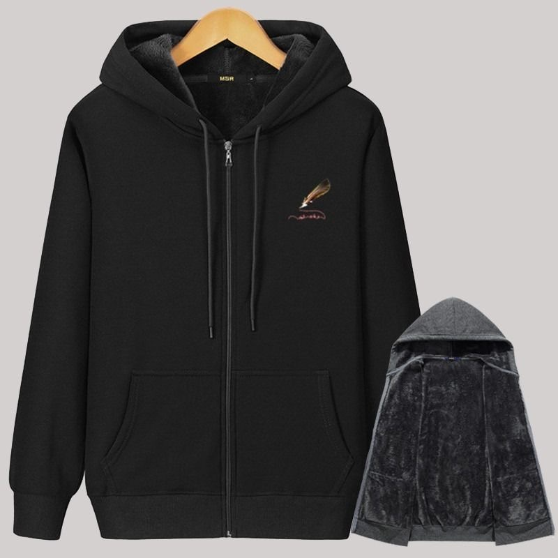 Men'S Hoodie 2020 Autumn winter 95% Cotton Plus Fleece Men'S Casual Hoodie Sweatshirt Men'S Solid Color Hoodie Sweatshirt Top