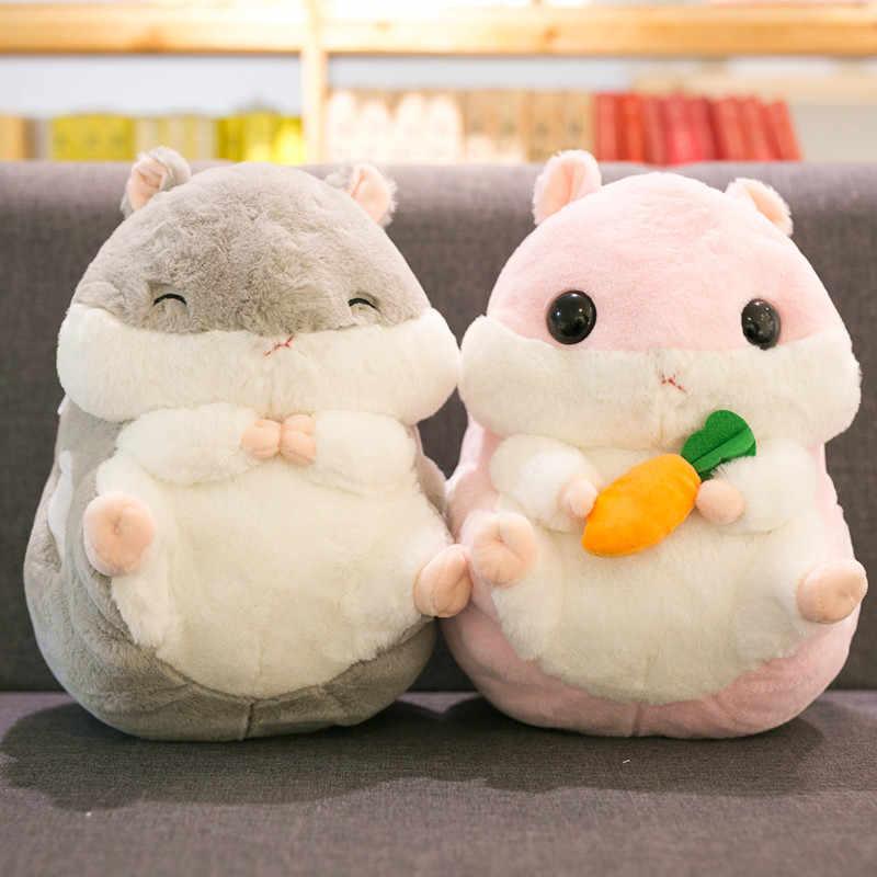 40cm hamster brinquedo bonito hamster pelúcia com cobertor 3 em 1 multifuncional animal jogar travesseiro hamster mão quente macio boneca presente do miúdo
