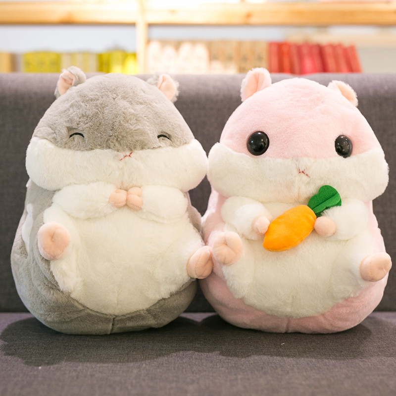 40cm Hamster Toy Cute Hamster Plush With Blanket 3 In 1 Multifunctional Animal Throw Pillow Hamster Hand Warm Soft Doll Kid Gift