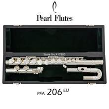 Hot Selling Pearl Alto Flute PFA-206EU G Tune 16 Closed Hole Keys Sliver Plated with case free shipping(China)
