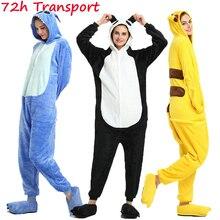 Nightwear Pajamas Costumes Onesies Unicorn Totoro Adults Kigurumi Women Sleepwear Flannel