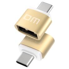 DM адаптер USB type C к USB 2,0 адаптер Thunderbolt 3 type-C адаптер OTG кабель для Macbook pro Air samsung S10 S9 USB OTG