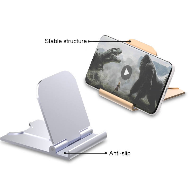 Universal Adjustable Mobile Phone Table Stand Foldable Desk Phone Tablet Holder Lazy Mobile Phone Holder For Iphone Huawei
