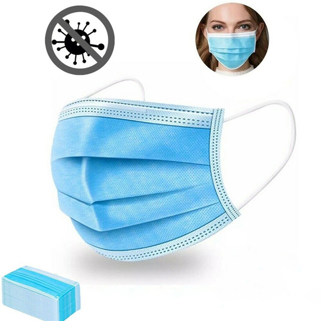 Anti-Pollution 3 Layers Mask dust protection Face Masks Disposable Dust Filter Safety Mask Proof Flu Earloop Face Masks 1