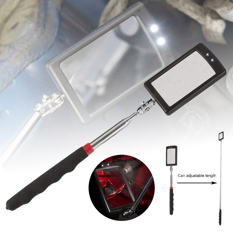 Expandable Inspection Mirror For Car LED Lamp Endoscope 360 Degree Rotating Chassis Angle Diagram Inspection Tool