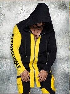 Image 3 - 2019 סתיו מותג ספורט חליפת גברים חליפת גברים נים סטי Mens חדרי כושר ספורט Jogger חליפת זכר אימונית סטי חדרי כושר בגדים