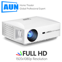 AUN Full HD projektör F301920x1080 6500 lümen LED projektör ev sinema 3D Video Beamer