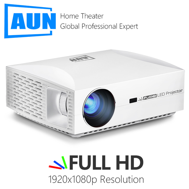 Aun completo projetor hd f301920x1080 6500 lumens led projetor cinema em casa 3d vídeo beamer
