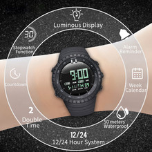 2020 reloj hombre Sports Watches Countdown Men's Waterproof LED Digital Watch Man Military High Quality Clock Wristwatch
