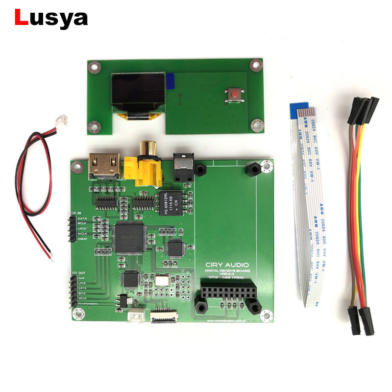 AK4118 Amanero Digital XMOS Audio Decoder DAC USB COAX SPDIF I2S Switch board OLED 32 Bit DSD 512 T0138