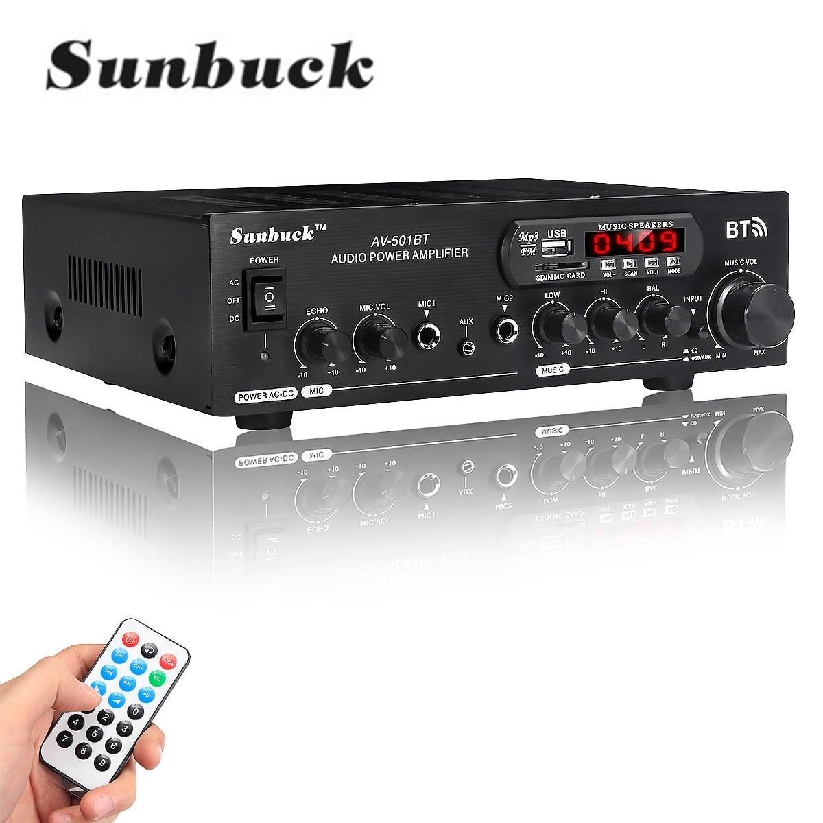 Усилитель мощности аудио 1200 Вт 220 В/110 в bluetooth 2,0 hifi динамик 4 микрофона пульт дистанционного управления Поддержка FM USB SD карты
