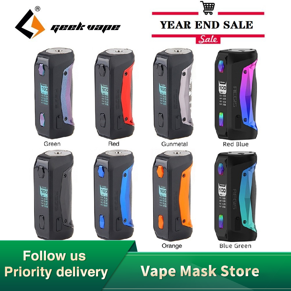 New Original 100W Geekvape Aegis Solo MOD With Latest AS Chipset E-cig Vape TC Box Mod Aegis Solo VS Drag 2/ Luxe Mod/ Gen Mod