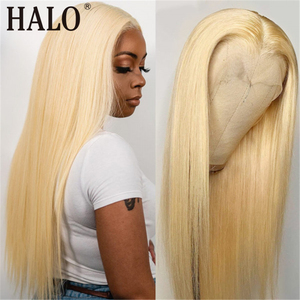 28 30 Inch 613 Blonde 13x1 Closure Wig Transparent Remy Lace Front Human Hair Wigs for Black Woman Straight Glueless Pre Plucked