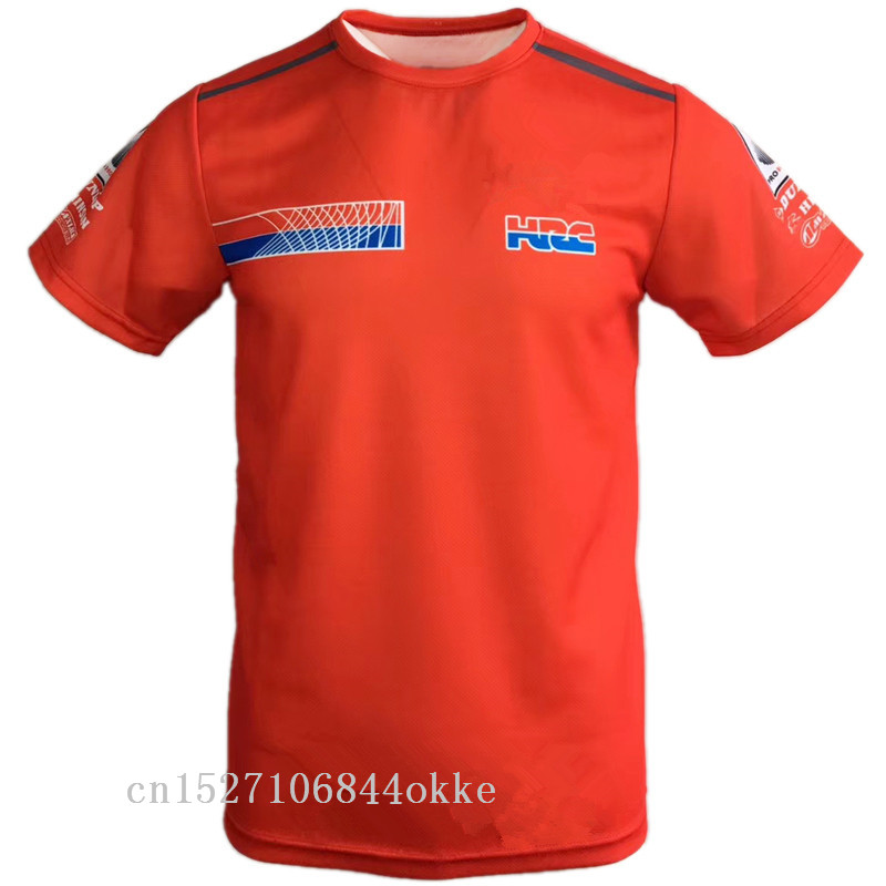 Wholesale New Motorcycle Shirt For HRC T-shirt Motocross Bicycle Cycling Bike Downhill Jersey T-shirt