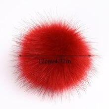 Pompons en vraie fourrure de raton laveur 12cm, Pompon en fourrure naturelle de renard, pour chapeaux, sacs, écharpes, accessoires, vente en gros