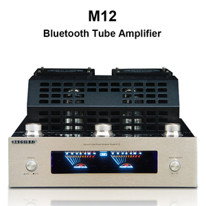 Image 1 - M12 Amplifier HI FI Bluetooth Vacuum Tube Stereo Amplifier support USB 2 channels Audio power amplifier BASS hifi 220V or 110V