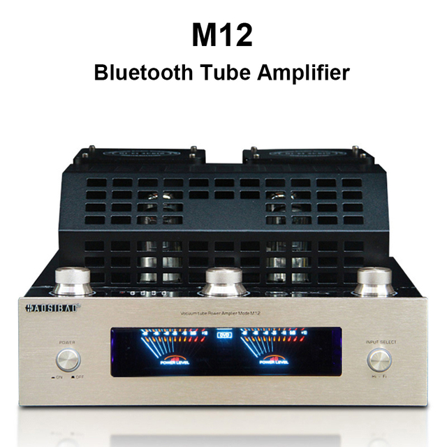 M12 Amplifier HI FI Bluetooth Vacuum Tube Stereo Amplifier support USB 2 channels Audio power amplifier BASS hifi 220V or 110V