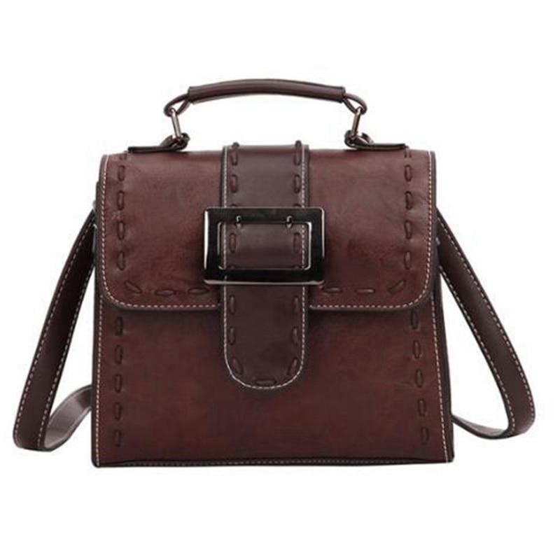 Women's PU Leather Backpack Female Fashion Small Bag Backpack Teen Girl Retro Shoulder Bag