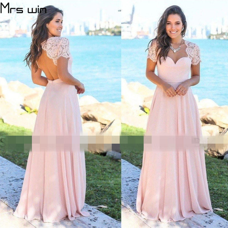 Mrs win   Evening     Dresses   Short Sleeve Robe De Soiree Sexy Backless Women Party   Dresses   Plus Size Formal Gowns For Girls HR103