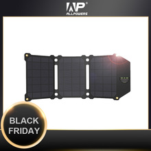 Allpowers 21W Lượng Mặt Trời Các Tế Bào Năng Lượng Mặt Trời Di Động Năng Lượng Mặt Trời Sạc Pin Điện Thoại Sạc Cho Sony IphoneX Plus 11Pro iPad