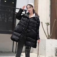 Winter long down jacket in the female 2019 new white duck down collar eiderdown outerwear coat female a undertakes