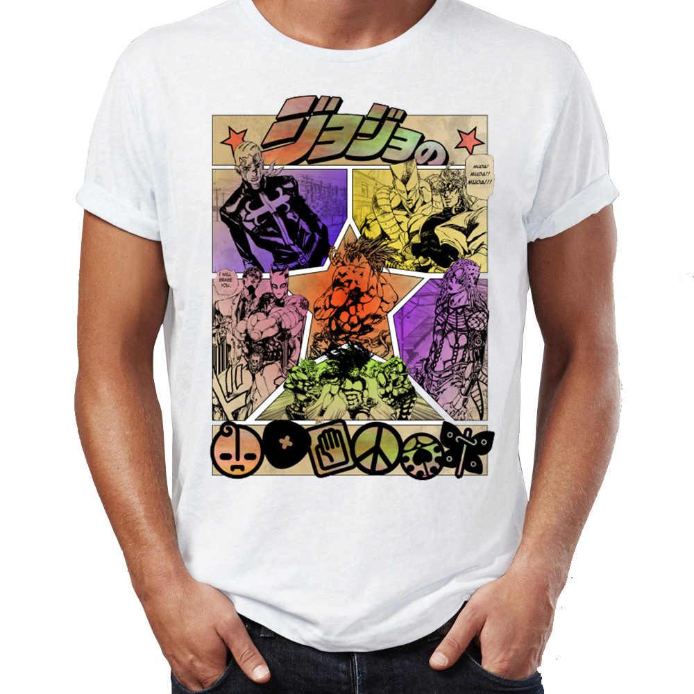 Jojo T Shirt 기묘한 모험 Jojo Manga Anime 굉장한 삽화 인쇄 된 거리 녀석 정상 & Tees Swag 100% Cotton Camiseta