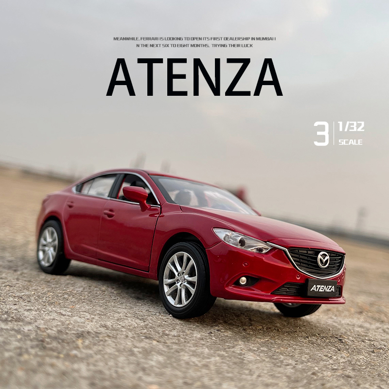 Новинка 2021, модель автомобиля Mazda ATENZA 1:32, литой автомобиль из сплава, Игрушечная модель автомобиля, детская коллекционная игрушка, бесплатна...